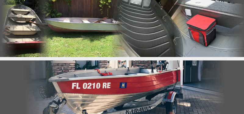 Before And After Images Aluminum Boat Restoration Project Non Skid Paint Gray